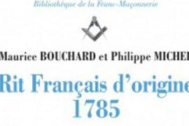Rit français d'origine 1785 – Dit Rit Primordial de France