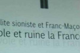 """Photo : """"Cette élite sioniste et franc-maçonne qui vole et ruine la France"""""""