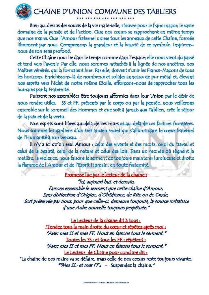 FETE DES TABLIERS CHAINE D UNION COMMUNE 010616