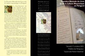 Première Biennale du Livre et de la Culture Maçonnique en Périgord