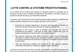 GLFF : Soutien au projet de loi sur la lutte contre le système prostitutionnel