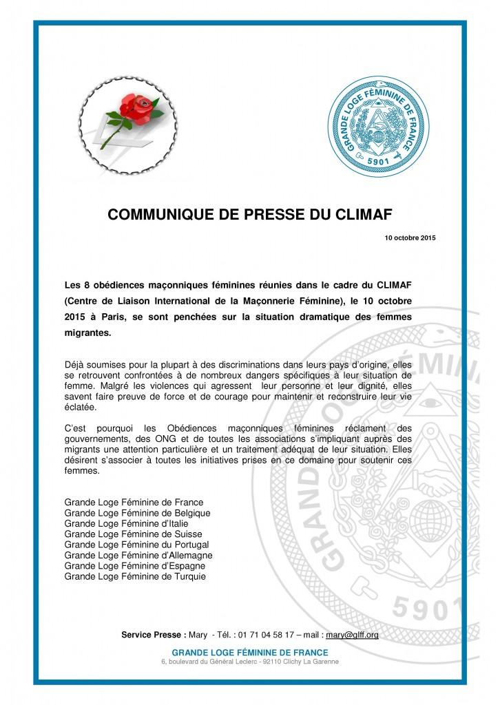 INFOPRESSE CLIMAF 101015