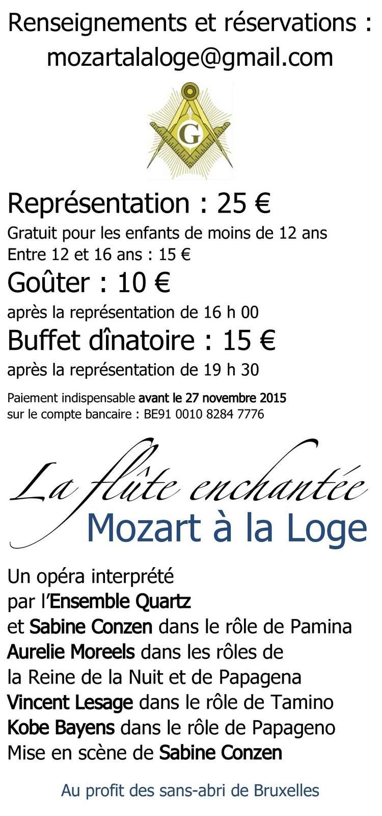 La flute enchantée - Mozart à la Loge - Verso - PUBLIC