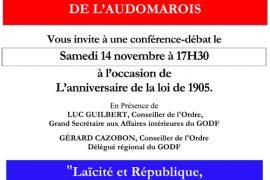 Conférence GODF : Laïcité et République, D'hier à Demain