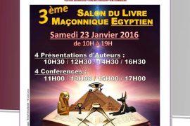3ème Salon du Livre Maçonnique Egyptien à Paris