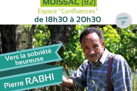 Les Rencontres de la GLFF : Vers la sobriété heureuse avec Pierre Rabhi