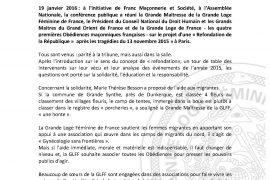La GLFF appelle les 4 premières Obédiences maçonniques françaises à s unir autour de projets communs