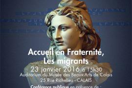 Conférence GODF à Calais : Accueil en Fraternité, Les migrants