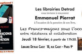 Emmanuel Pierrat en dédicace chez Detrad