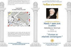 Conférence GLNF : Fiction et réalités initiatiques avec Frédérick Tristan