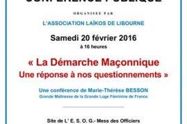 Libourne : La démarche initiatique, une réponse à nos questionnements