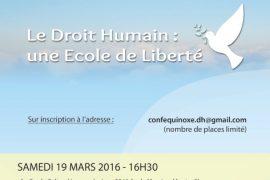 Montpellier : Le Droit Humain : une Ecole de Liberté