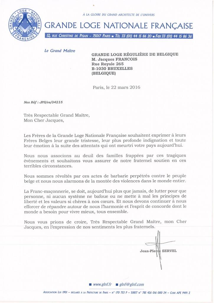 160322 lettre a GLRB - Attentats