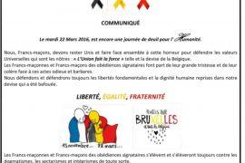 Communiqué GLMMM suite aux attentats de Bruxelles