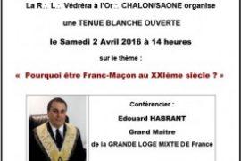 Conférence avec Edouard Habrant à Chalon sur Saone