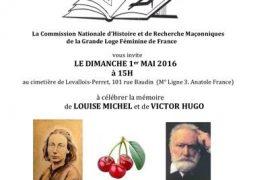 Louise Michel et Victor Hugo célébrés le 1er Mai