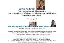 Franc-Maçonnerie et Société : Dîner-dialogue – Moyen-orient et démocratie
