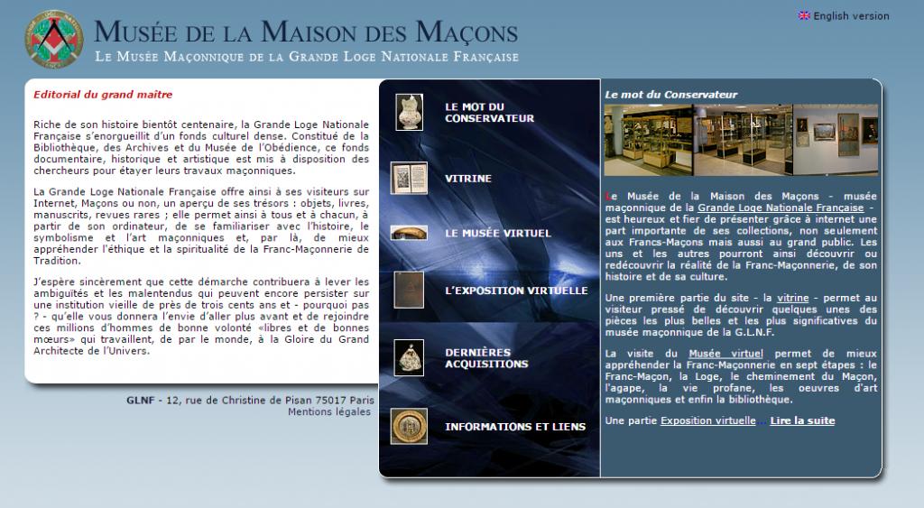 Musée de la Maison des Macons  GLNF
