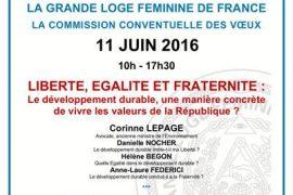 Colloque GLFF : développement durable et valeurs de la République