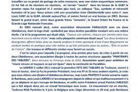 1er  FETE DES TABLIERS en Belgique à Liège : le compte-rendu