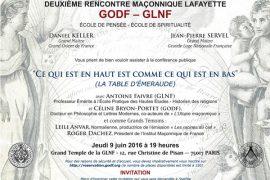 Les 2° Rencontres Maçonniques LA FAYETTE – G.L.N.F. – G.O.D.F.