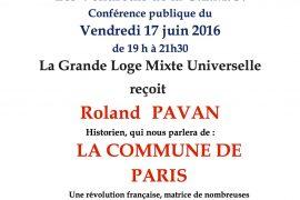 Conférence La Commune de Paris avec Roland Pavan