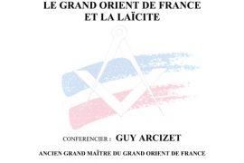 Conférence : Le Grand Orient de France et la Laïcité