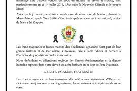 Attentat de Nice : Communiqué de GLMMM, GLSREP et GLMN