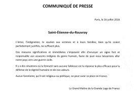 Saint-Étienne-du-Rouvray : Communiqué de la GLDF