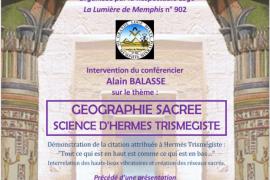 """Conférence GLMMM sur la """"Géographie sacrée – Science d'Hermes Trismegiste"""""""