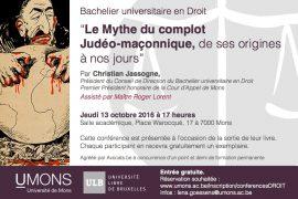 ULB – Le mythe du complot Judéo-maçonnique, de ses origines à nos jours