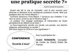 La franc-maçonnerie: une pratique secrète? à l'Université Populaire de Niort