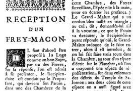 Miscellanea Macionica :  Qu'est-ce que la « Réception d'un Frey-Maçon » ?