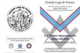 """""""La Franc maçonnerie sans clichés"""" avec Alain-Noël Dubart à Caen"""