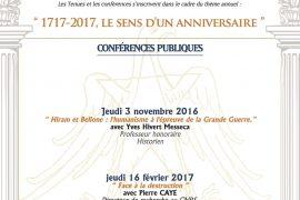 GLNF : PROGRAMME VILLARD DE HONNECOURT 2016 – 2017