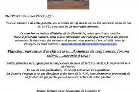 LA GAZETTE CATALANE DE LA FRATERNITÉ – DES MAÇONS UNIVERSELS – N°02