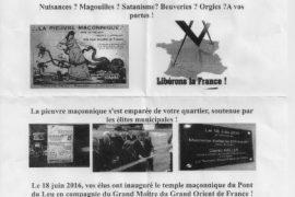 TRACT ANTI-MACONNIQUE : NON AUX FRANCS-MACONS A CALAIS
