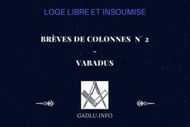 BRÈVES DE COLONNES N° 2 – CONTRIBUTION DE VABADUS