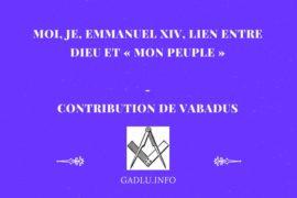 MOI, JE, EMMANUEL XIV, LIEN ENTRE DIEU ET «MON PEUPLE» – CONTRIBUTION DE VABADUS