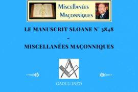 LE MANUSCRIT SLOANE N° 3848 – MISCELLANÉES MAÇONNIQUES