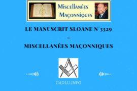 LE MANUSCRIT SLOANE N°3329 – MISCELLANÉES MAÇONNIQUES