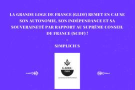 GLDF / SCDF : PÉRIPÉTIE AU REAA