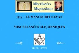 LES FRANCS-JARDINIERS ÉCOSSAIS – MISCELLANÉES MAÇONNIQUES