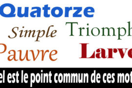 ENIGME : LE POINT COMMUN ?