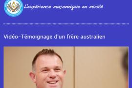 TÉMOIGNAGE D'UN FRANC-MAÇON AUSTRALIEN DU DROIT HUMAIN