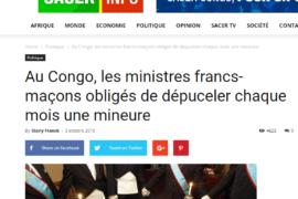 DIVAGATION DÉLIRANTE ANTI-MAÇONNIQUE AU CONGO