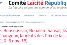 LES LAURÉATS DES PRIX DE LA LAÏCITÉ 2018
