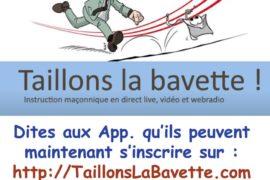 TAILLONS LA BAVETTE – INSTRUCTION MAÇONNIQUE EN LIGNE