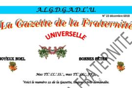 """LA GAZETTE UNIVERSELLE DE LA FRATERNITÉ N° 22 – """"NOËL"""""""