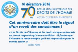 COMMUNIQUE DROIT HUMAIN – DÉCLARATION UNIVERSELLE DES DROITS DE L'HOMME